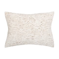 Clea Std Sham,ELISABETH YORK,Hand Crafted,Luxury,Japanese Shibori,Hand Dyed,Animal Print,Luxury Bedding,Standard Sham,Sham,Bedding