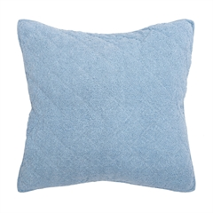 Savina Euro Sham,ELISABETH YORK,Dobby Weave Cotton,Enzyme Wash,Jean,Jeans,Luxury,Bedding,Luxury Bedding, Euro Sham,Sham
