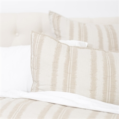 Farren Std Sham,ELISABETH YORK,Fiber Dyed,Jacquard Woven,Stripe,Luxury,Bedding,Luxury Bedding,Stripes,Standard Sham,Sham