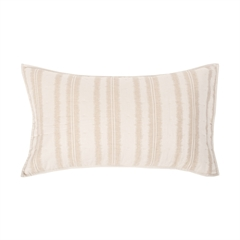 Farren King Sham,ELISABETH YORK,Fiber Dyed,Jacquard Woven,Stripe,Luxury,Bedding,Luxury Bedding,Stripes,King Sham,Sham