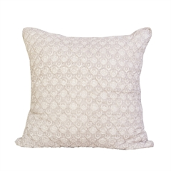 Margot Euro Sham,carol & frank,Hand Quilted,Cotton Voile,Textured Damask,Indian Block Print,Euro Sham,Sham,Block Print