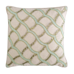 Sea Glass Ripple Pillow,ELISABETH YORK,Decorative Pillow,Luxury