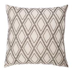 Graphite Diamond Pillow,ELISABETH YORK,Decorative Pillow,Luxury