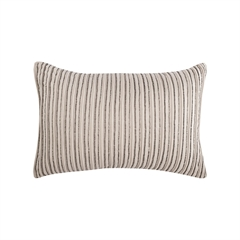 Graphite Stripe Pillow,ELISABETH YORK,Decorative Pillow,Luxury